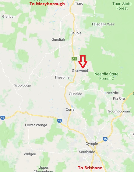 map gympie Glenwood